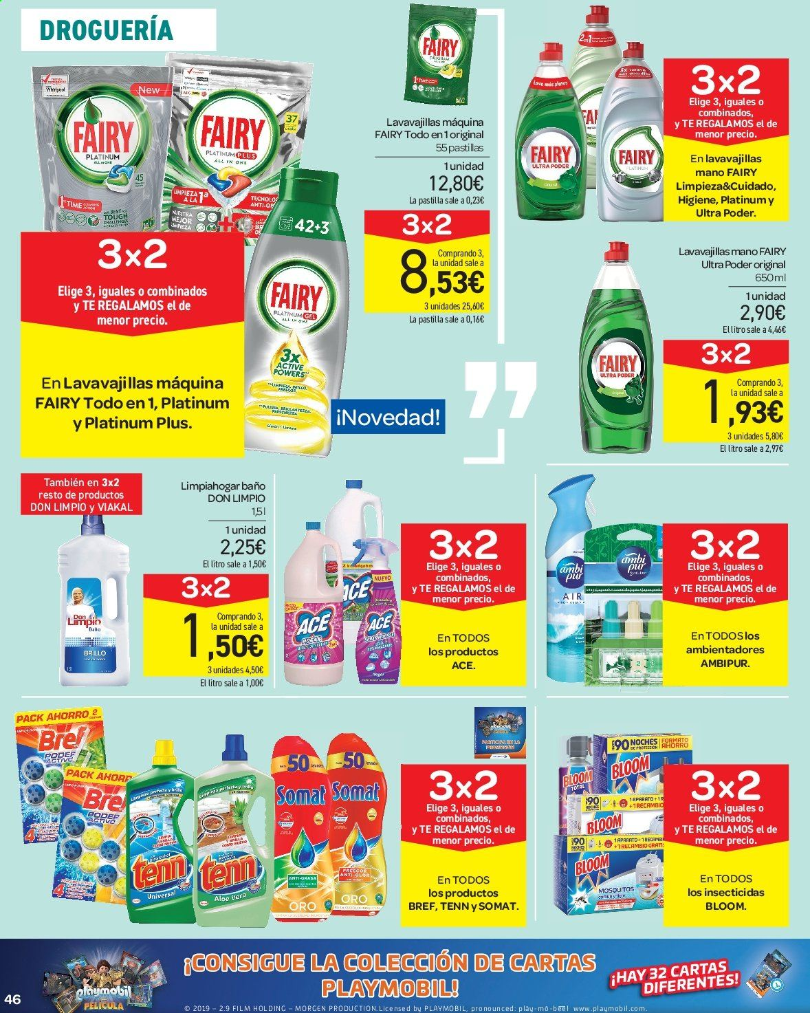 Folleto vigente Carrefour  - 23.8.2019 - 10.9.2019. Página 46.