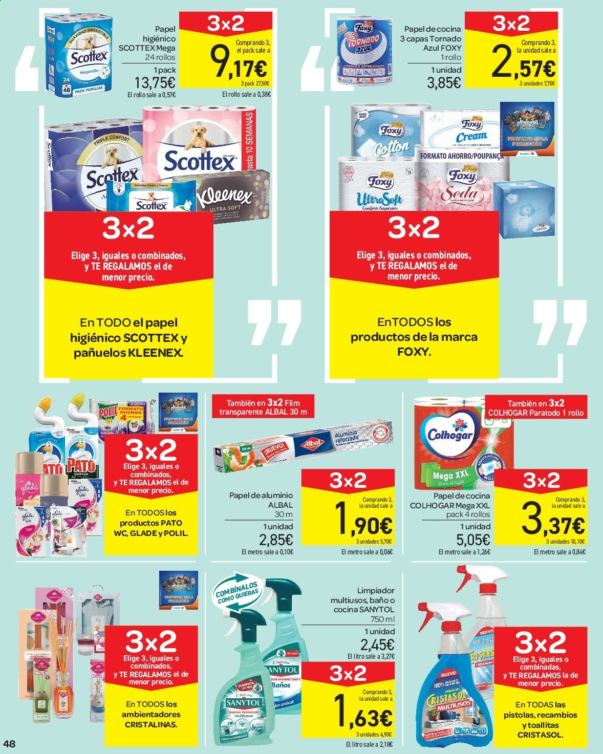Folleto vigente Carrefour  - 23.8.2019 - 10.9.2019. Página 48.