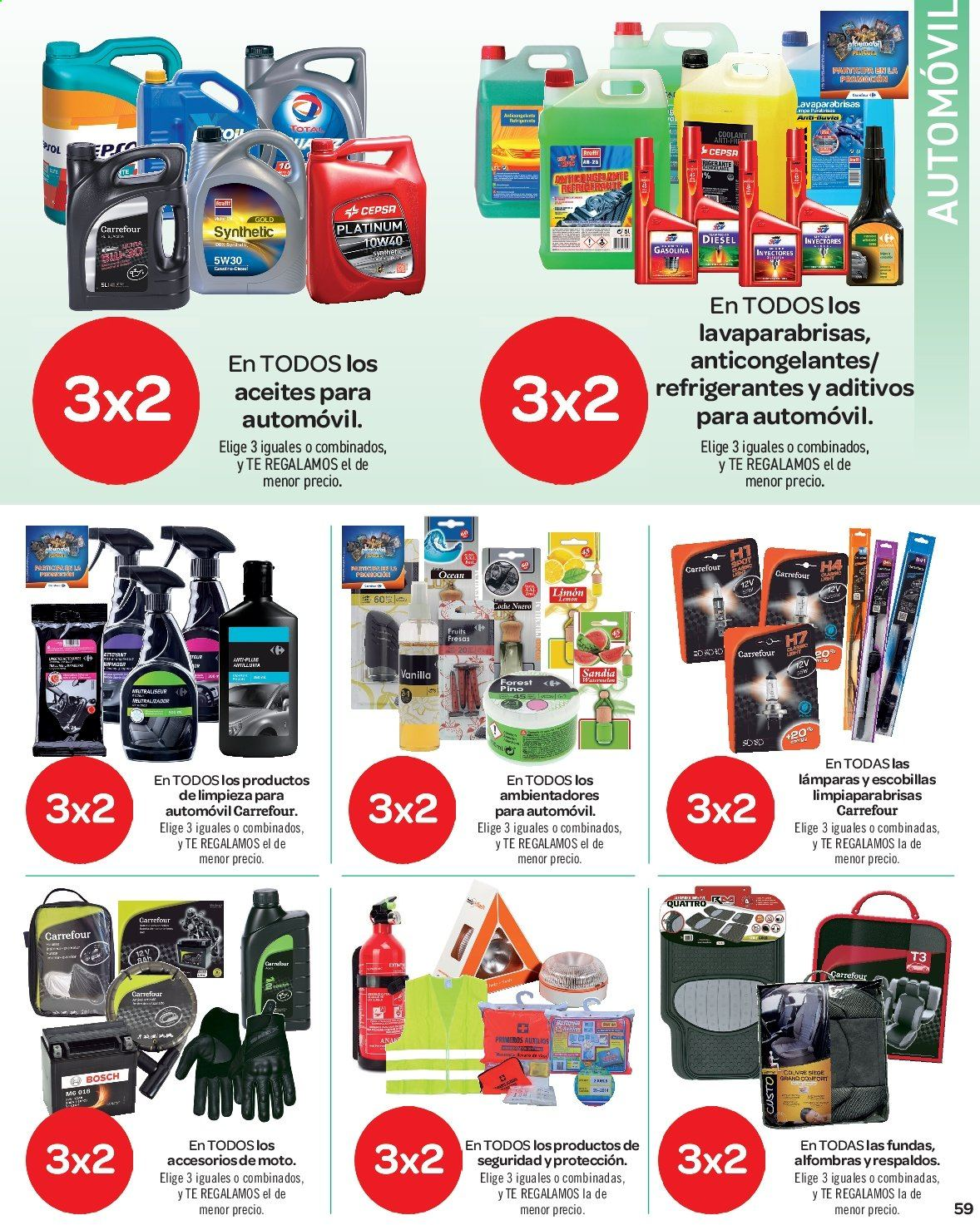 Folleto vigente Carrefour  - 23.8.2019 - 10.9.2019. Página 59.