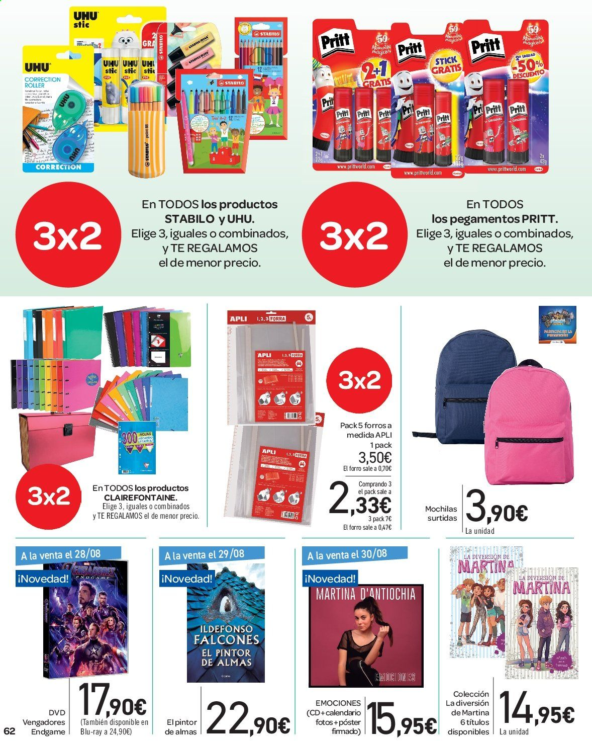 Folleto vigente Carrefour  - 23.8.2019 - 10.9.2019. Página 62.