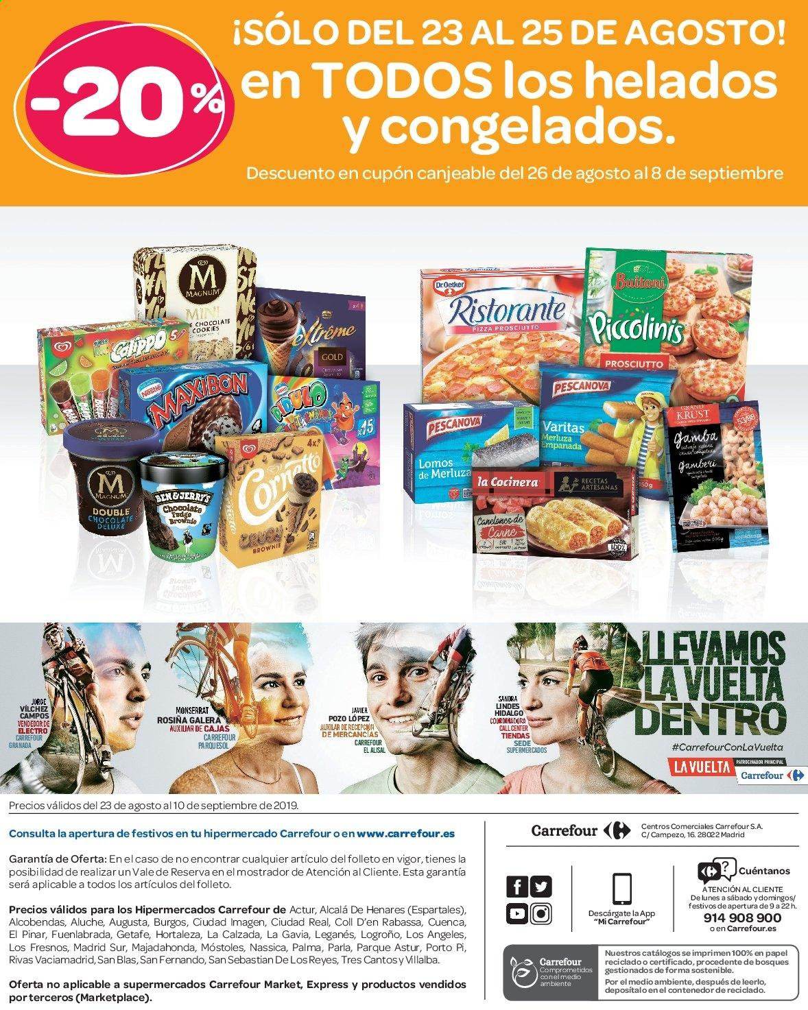 Folleto vigente Carrefour  - 23.8.2019 - 10.9.2019. Página 72.