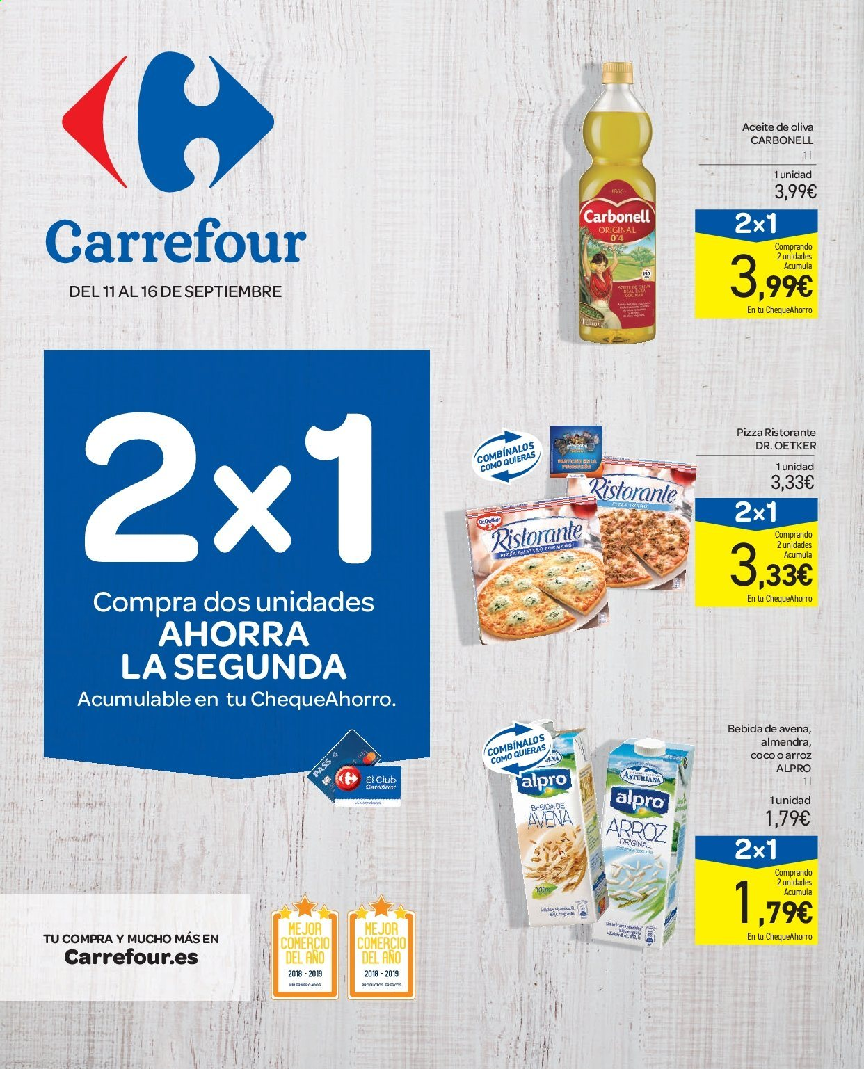 Folleto vigente Carrefour  - 11.9.2019 - 16.9.2019. Página 1.