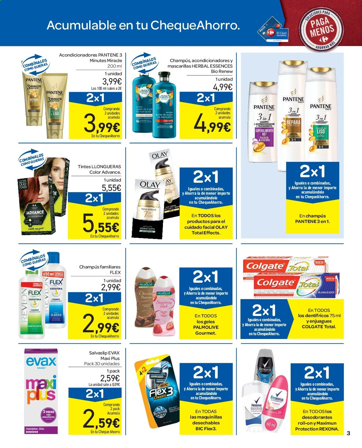 Folleto vigente Carrefour  - 11.9.2019 - 16.9.2019. Página 3.