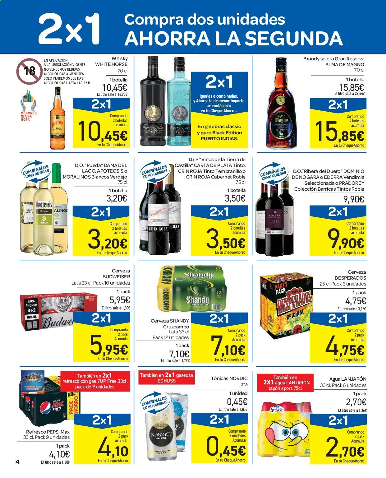 Folleto vigente Carrefour  - 11.9.2019 - 16.9.2019. Página 4.