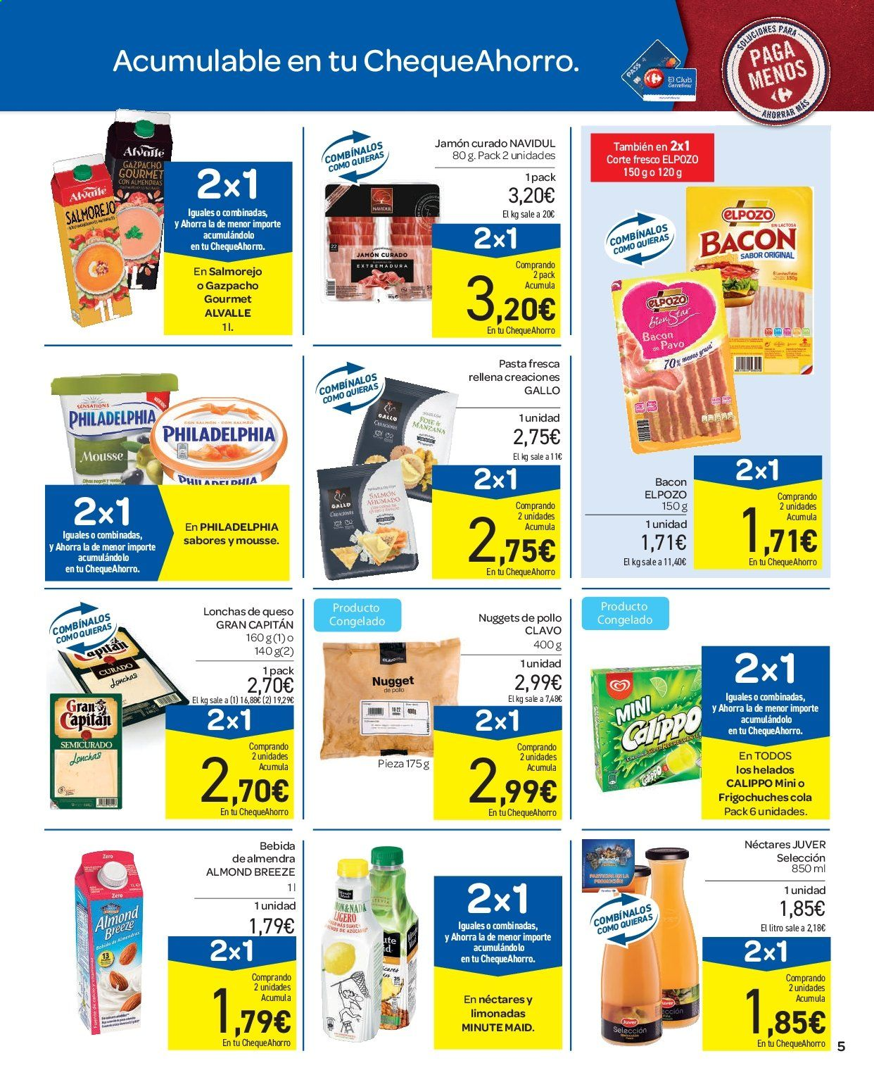 Folleto vigente Carrefour  - 11.9.2019 - 16.9.2019. Página 5.