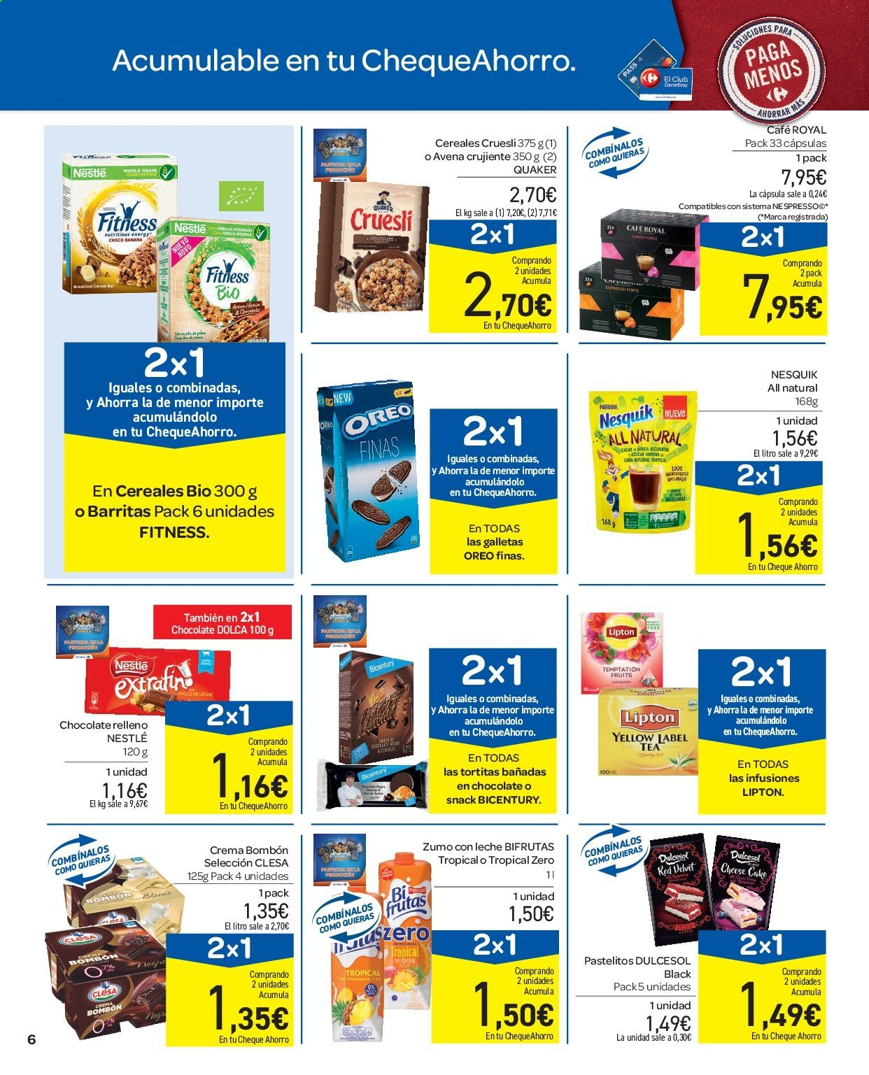 Folleto vigente Carrefour  - 11.9.2019 - 16.9.2019. Página 6.