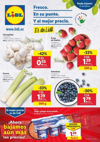 Folleto actual Lidl - 25.2.2021 - 3.3.2021.