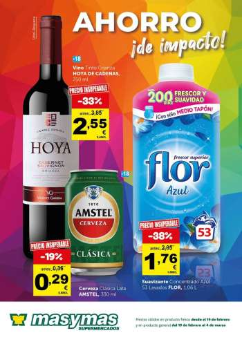 Folleto actual Supermercados masymas - 19.2.2021 - 4.3.2021.