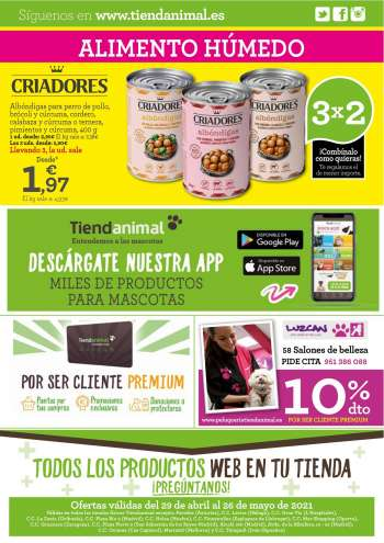 Folleto actual Tiendanimal - 29.4.2021 - 26.5.2021.