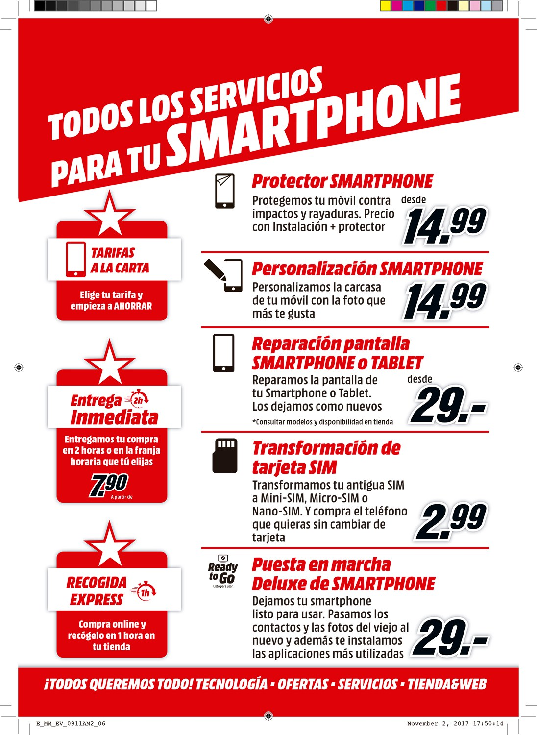 Folleto actual MediaMarkt - 1.1.2018 - 31.12.2018 - Ventas - móvil, smartphone, tablet, té. Página 6.