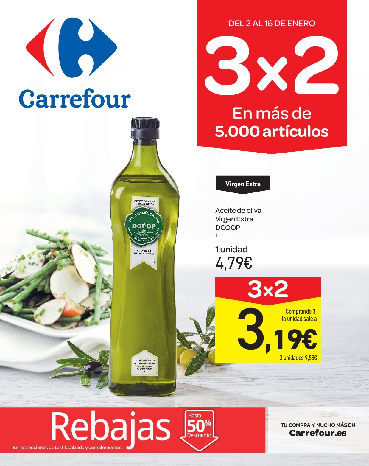 Folleto actual Carrefour - 2.1.2019 - 16.1.2019 - Ventas - aceite a67a1fca7927