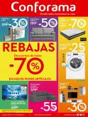 Folleto actual Conforama - 2.1.2019 - 30.1.2019 - Ventas - lavadora, led, candy, colchón, chaiselongue, sofá, tren, tv, wifi, samsung.