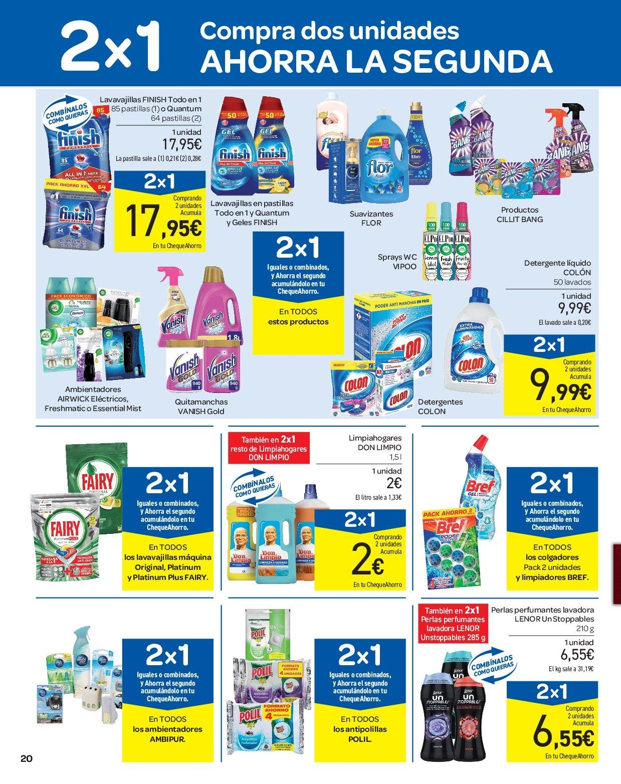 Folleto vigente Carrefour - 28.3.2019 - 9.4.2019. Página 20.