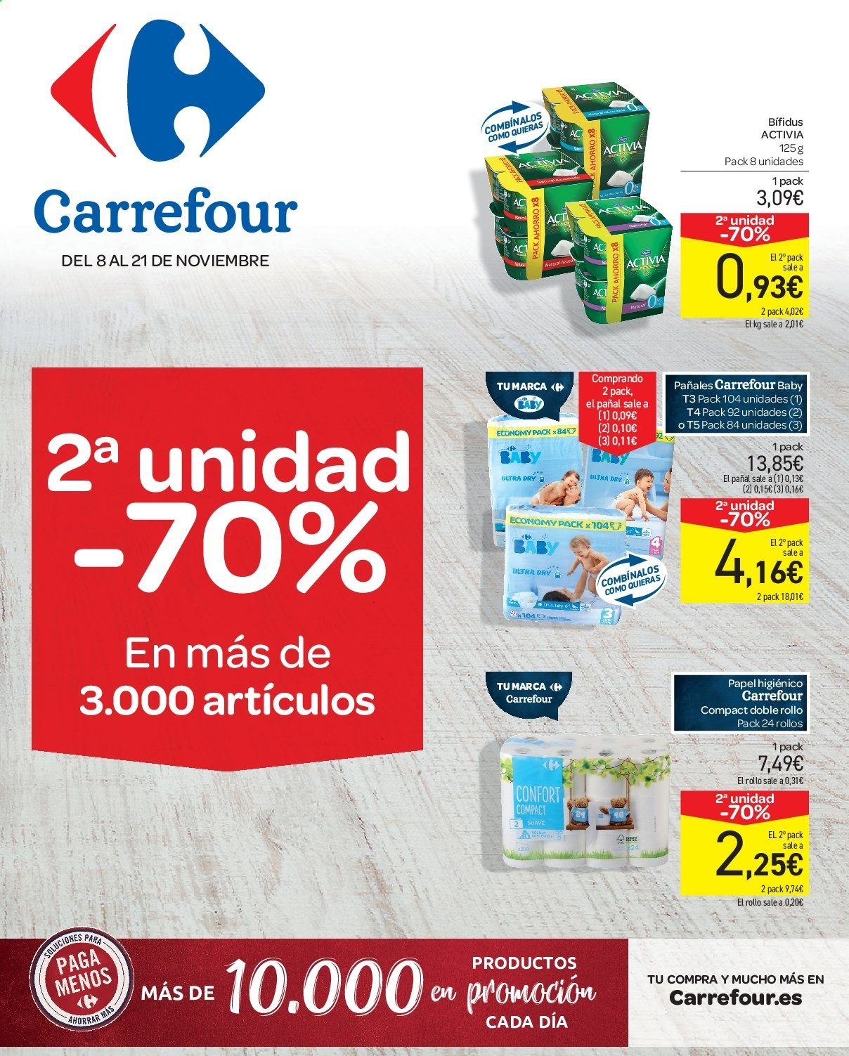 Folleto vigente Carrefour - 8.11.2019 - 21.11.2019. Página 1.