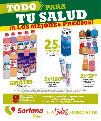 Folleto actual Soriana Súper - 1.4.2021 - 30.4.2021.