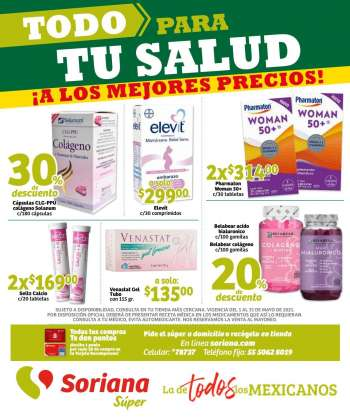 Folleto actual Soriana Súper - 1.5.2021 - 31.5.2021.