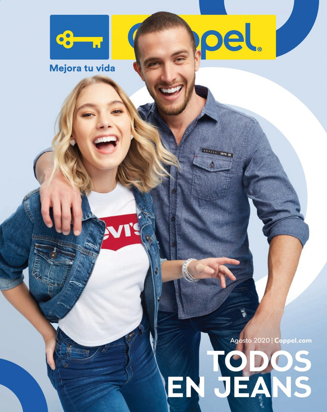 Folleto actual Coppel - 1.8.2020 - 31.8.2020 - Ventas - jeans. Página 1.