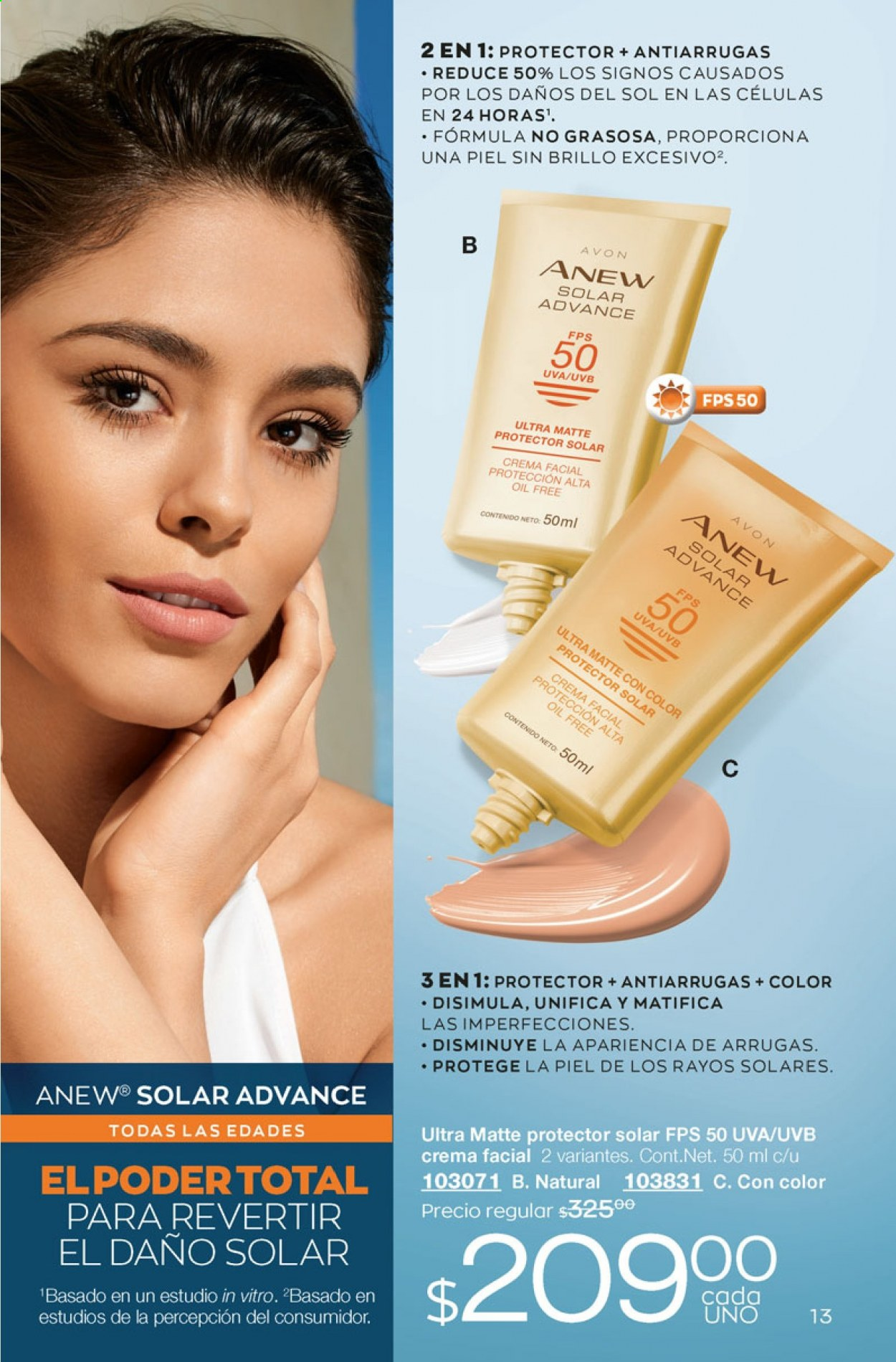 Folleto actual Avon - 5.10.2020 - 5.11.2020 - Ventas - uva, advance, anew, protector solar, oil, crema facial. Página 13.