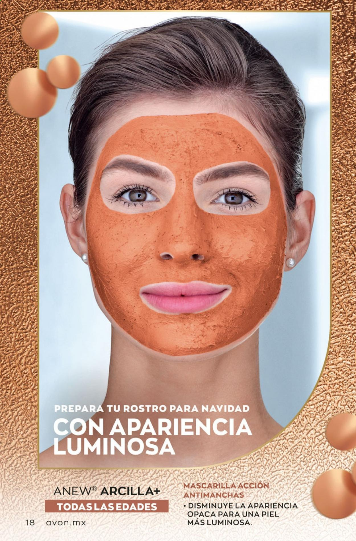 Folleto actual Avon - 5.10.2020 - 5.11.2020 - Ventas - anew, mascarilla. Página 18.