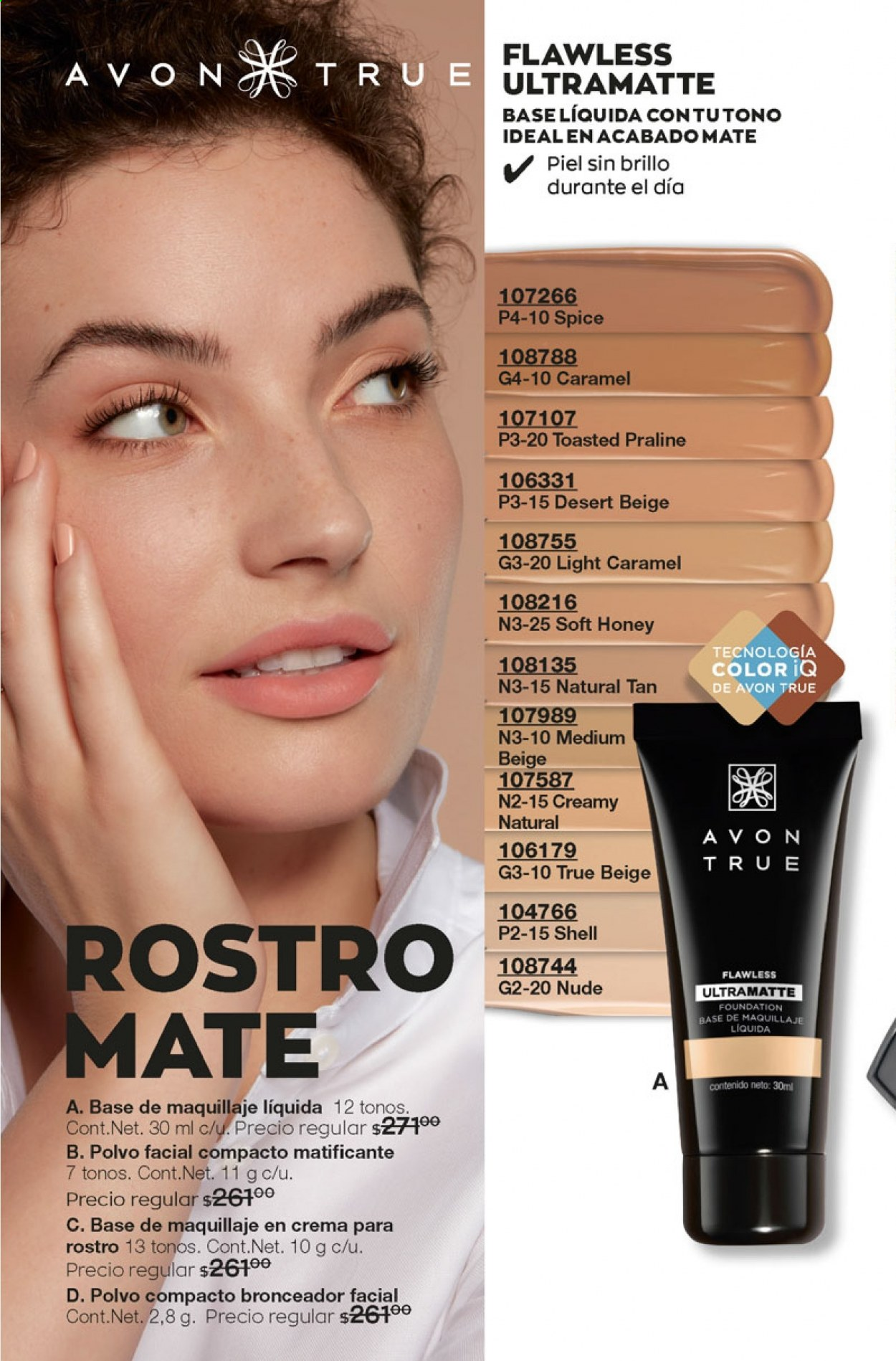 Folleto actual Avon - 5.10.2020 - 5.11.2020 - Ventas - avon true, maquillaje, praliné, flawless, polvo compacto, foundation, base de maquillaje. Página 138.