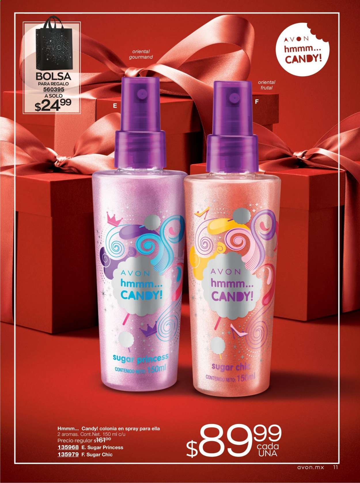 Folleto actual Avon - 7.11.2020 - 9.12.2020 - Ventas - candy, regalo. Página 11.
