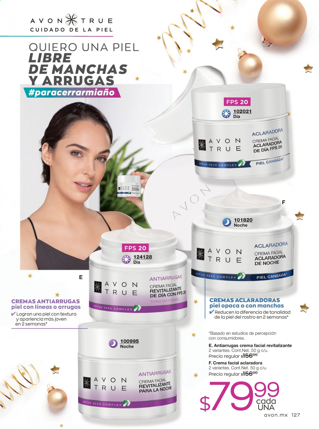 Folleto actual Avon - 7.11.2020 - 9.12.2020 - Ventas - avon true, crema facial. Página 127.