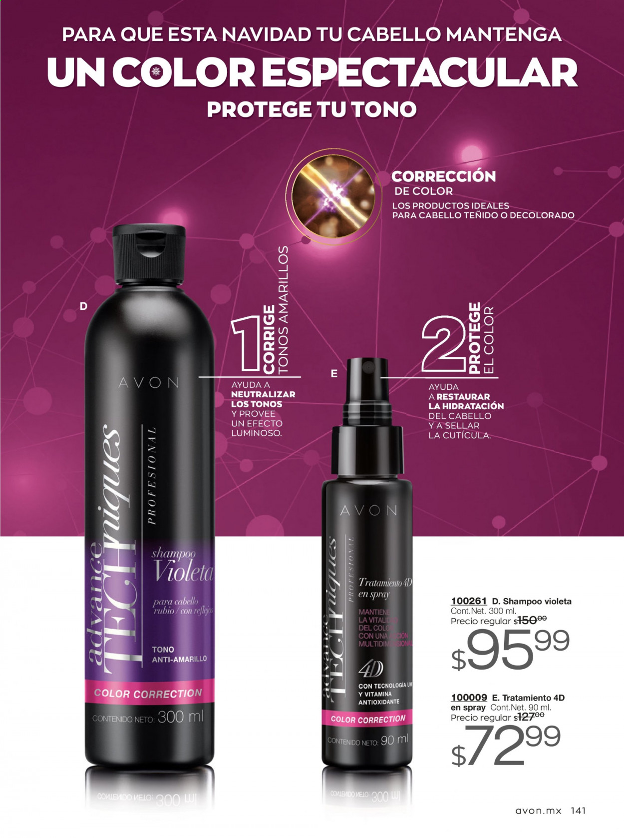 Folleto actual Avon - 7.11.2020 - 9.12.2020 - Ventas - advance, antioxidante, shampoo. Página 141.