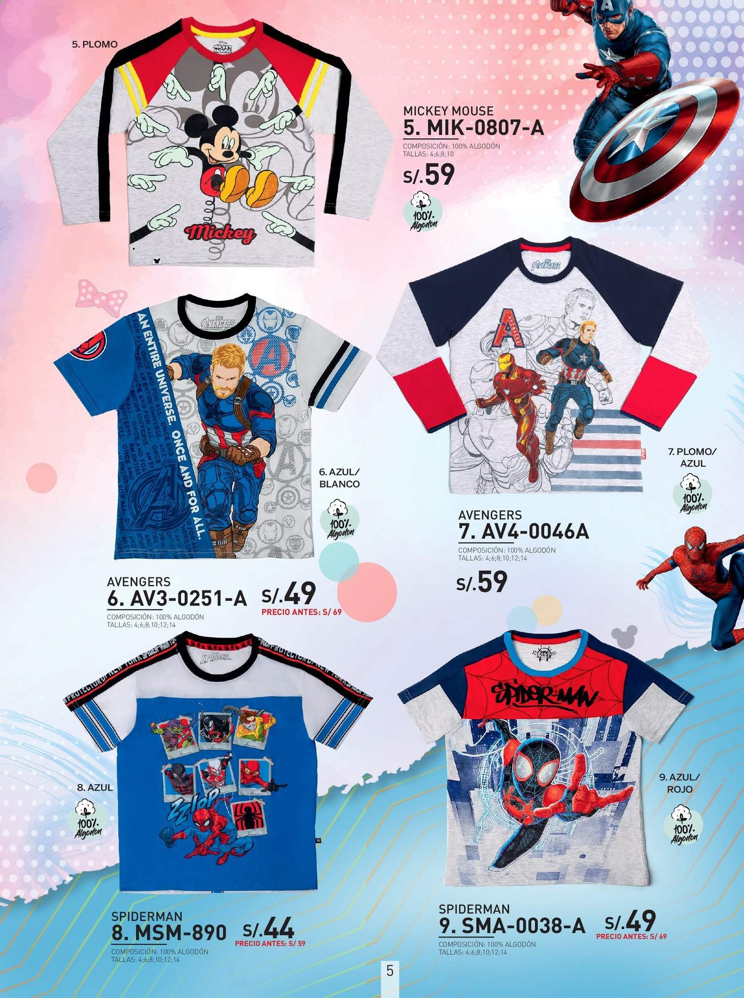 Folleto actual SOKSO - 5.8.2019 - 18.8.2019 - Ventas - spiderman, mickey mouse. Página 5.