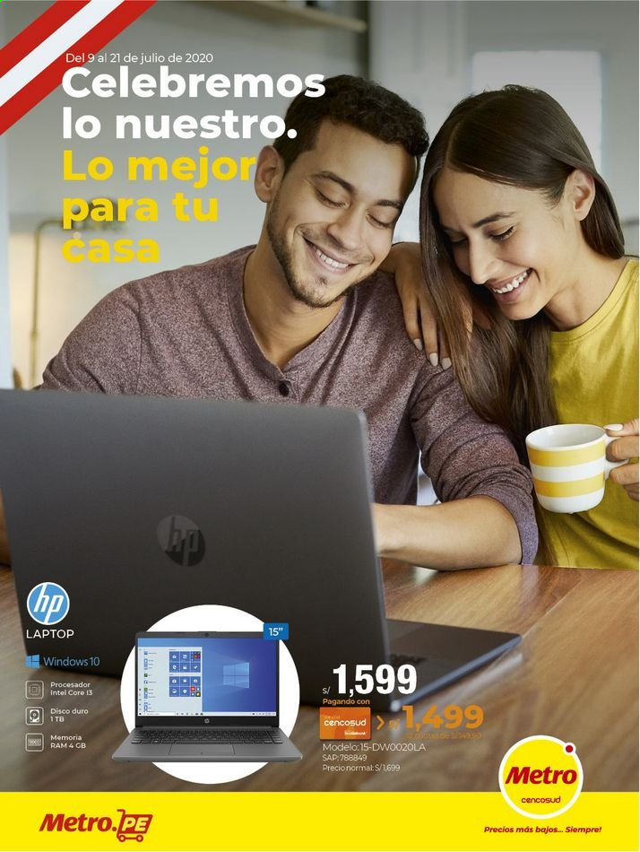 Folleto actual Metro - 9.7.2020 - 21.7.2020 - Ventas - disco duro, hp, intel, laptop, procesador, disco, metro. Página 1.