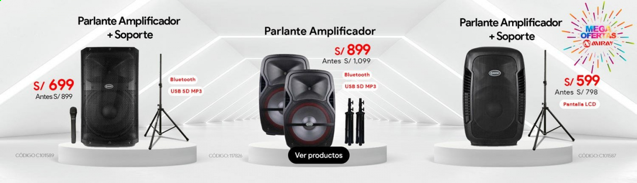 Folleto actual Importaciones Hiraoka - 12.10.2020 - 18.10.2020 - Ventas - amplificador, bluetooth, mp3, usb, parlante. Página 1.