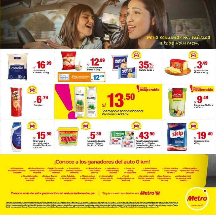 Folleto actual Metro - 1.9.2018 - 30.9.2018 - Ventas - queso, detergente, galletas, mayonesa, auto, head, head & shoulders, pringles, pantene, skip, shampoo, acondicionador. Página 3.