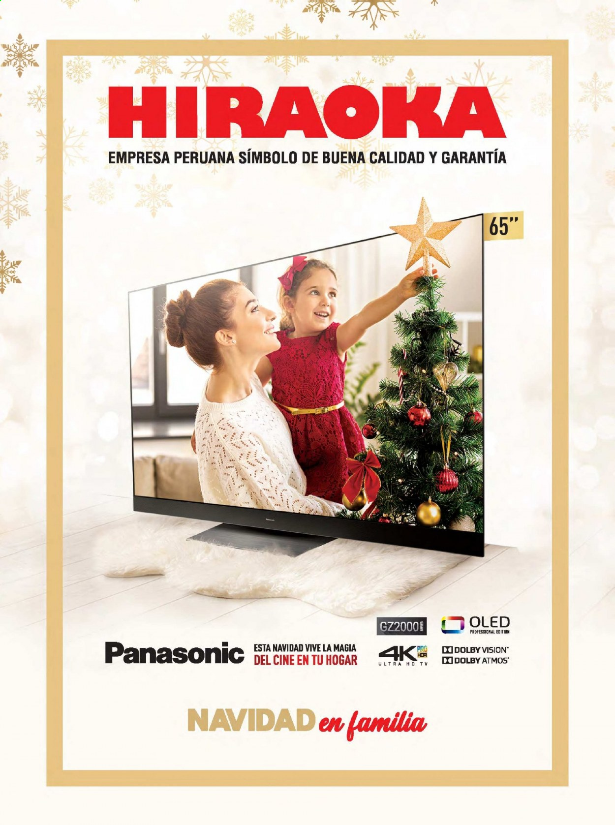 Folleto actual Importaciones Hiraoka - 5.12.2020 - 31.12.2020 - Ventas - tv, ultra hd, panasonic. Página 1.