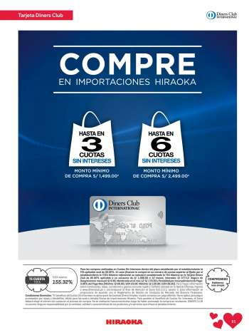 Folleto actual Importaciones Hiraoka - 24.4.2021 - 31.5.2021.
