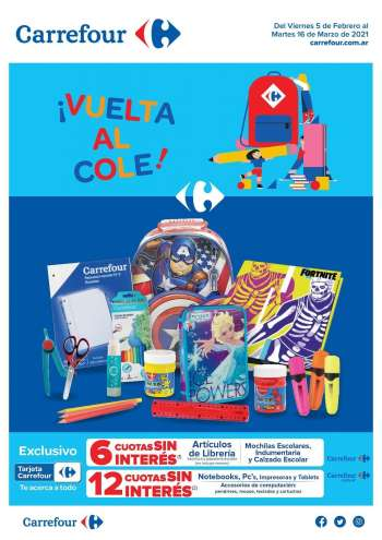 Folleto actual Carrefour Hipermercados - 5.2.2021 - 16.3.2021.