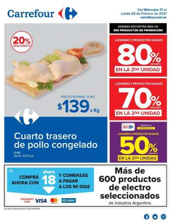 Folleto actual Carrefour Hipermercados - 17.2.2021 - 22.2.2021.