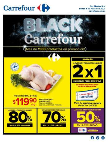 Folleto actual Carrefour Hipermercados - 2.3.2021 - 8.3.2021.
