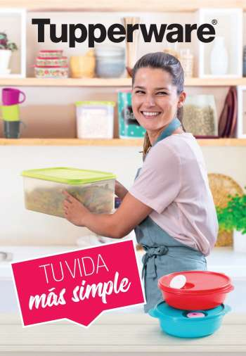 Folleto actual Tupperware.
