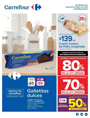 Folleto actual Carrefour Hipermercados - 9.3.2021 - 15.3.2021.