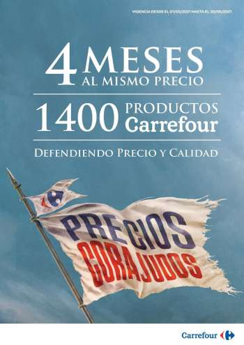 Folleto actual Carrefour Hipermercados - 1.3.2021 - 30.6.2021.