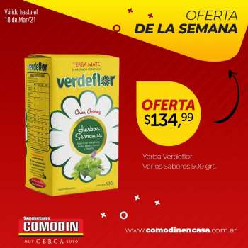 Folleto actual Supermercados Comodin - 16.3.2021 - 18.3.2021.