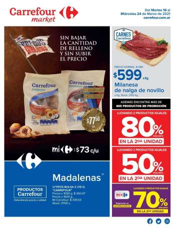 Folleto actual Carrefour Market - 16.3.2021 - 24.3.2021.