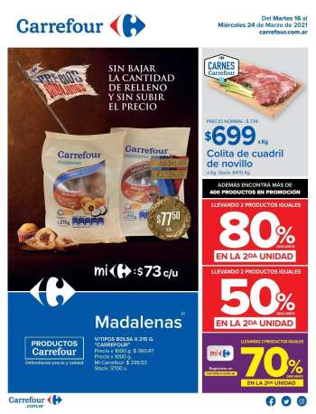 Folleto actual Carrefour Hipermercados - 16.3.2021 - 24.3.2021.