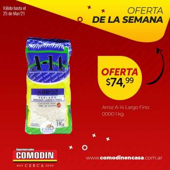Folleto actual Supermercados Comodin - 19.3.2021 - 25.3.2021.