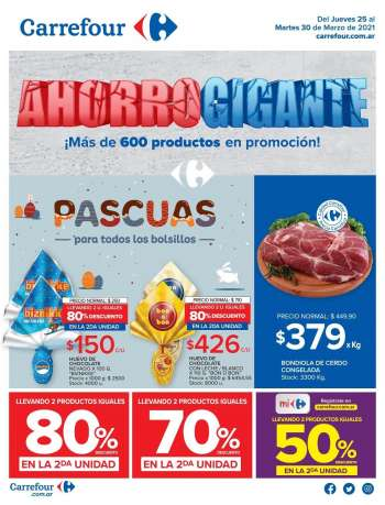 Folleto actual Carrefour Hipermercados - 25.3.2021 - 30.3.2021.