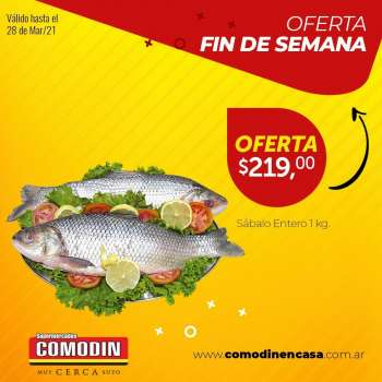 Folleto actual Supermercados Comodin - 28.3.2021 - 28.3.2021.