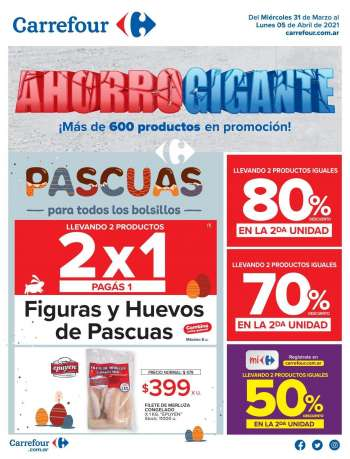 Folleto actual Carrefour Hipermercados - 31.3.2021 - 5.4.2021.