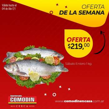 Folleto actual Supermercados Comodin - 30.3.2021 - 4.4.2021.