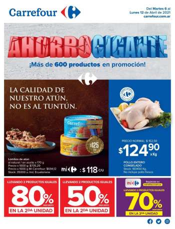 Folleto actual Carrefour Hipermercados - 6.4.2021 - 12.4.2021.