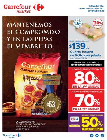 Folleto actual Carrefour Market - 13.4.2021 - 19.4.2021.