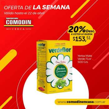 Folleto actual Supermercados Comodin - 13.4.2021 - 22.4.2021.